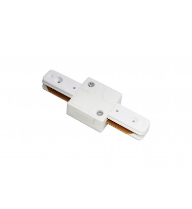 Track connector, white, 2 sides