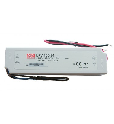 100W Power supply, 24V, Mean Well,IP67
