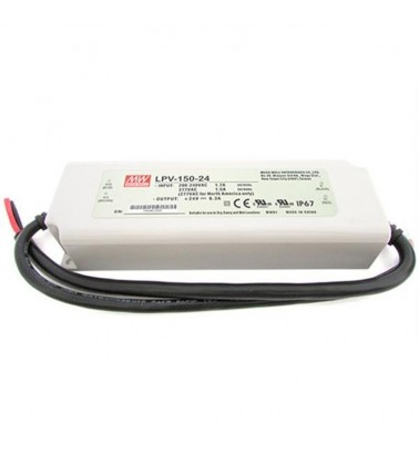 150W Power supply, 24V, Mean Well,IP67