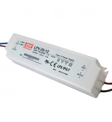 35W Power supply, 12V, Mean Well,IP67
