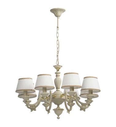 ivory color/metal lampshade 8*60W E14