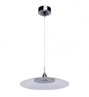 chrome color/metal + aluminium transparent /acrylic 20W LED 2000Lm 3000K IP20 LED installed